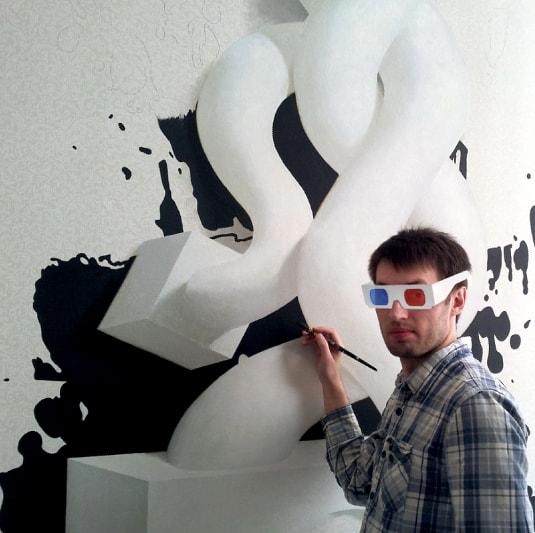 рисунки на стенах: