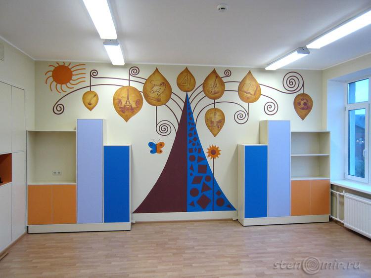 Как украсить школьную стену
