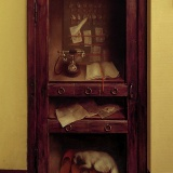 Роспись деревянной двери масляными красками