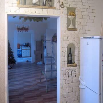 Стиль прованс в интерьере кухни • роспись стены