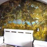 Картина маслом • Роспись стены в спальне