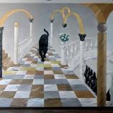 Художественная роспись стен в интерьере • с пантерой