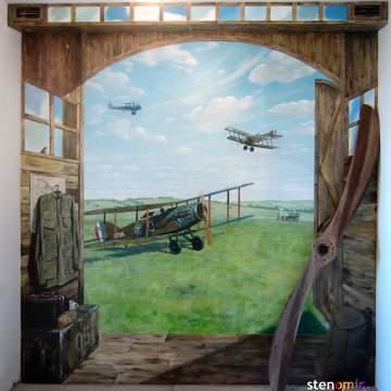 Рисунки на стенах • самолеты
