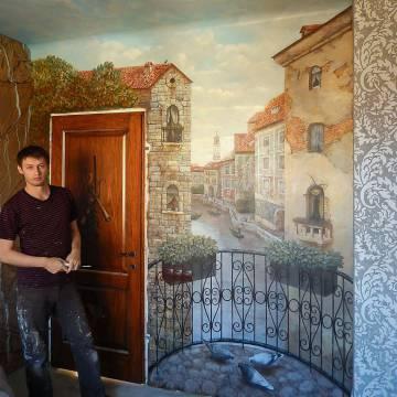 Роспись стен в интерьере • виды Венеции