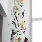 3D рисунок на стене • объемная абстракция