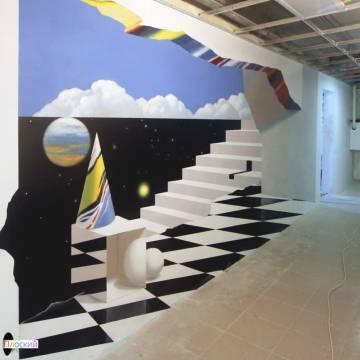 3d рисунки на стенах на 7-ом ЭТАЖЕ