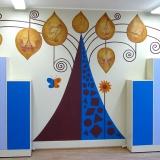 Рисунки на стене в детской (галерея мастера)