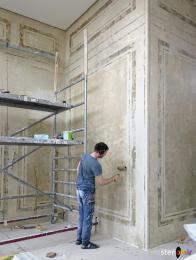 Процесс покраски мебели и стен под старину своими руками