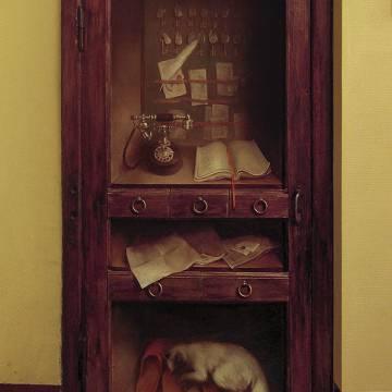 Роспись деревянной двери масляными красками | СПб