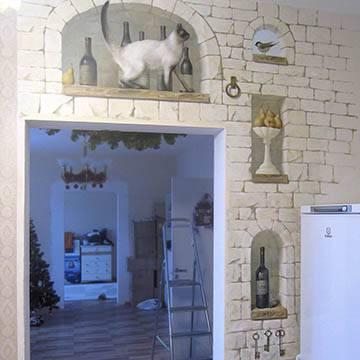 Роспись стен на кухне, сюжеты для росписи