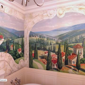 Роспись ванной комнаты с морем | СПБ