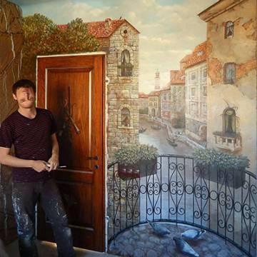Роспись стен Москва | художественная роспись с Венецией