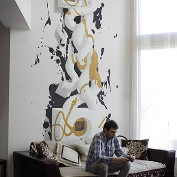 3D рисунки на стене в интерьере | Спб