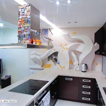3D рисунки на стенах • ЧТО ЭТО? мастер из СПб