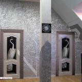 Рисунки на дверях • павлины