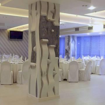 Оформление колонн ресторана