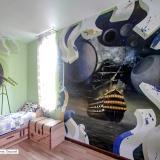Корабль • роспись стен в детской