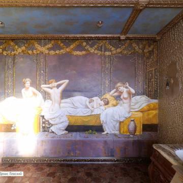 Дизайн стен в ванной комнате | дизайн росписью Москва