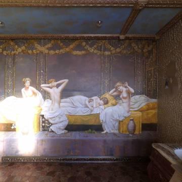 Купальщицы - роспись ванной