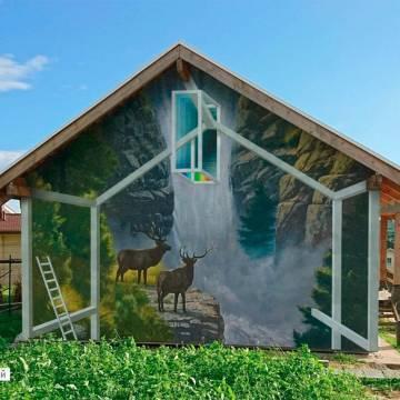 Роспись фасадов домов - как живые