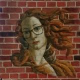 Рисунок на кирпичной стене • Венера