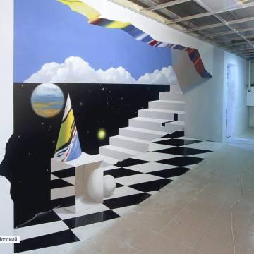 Роспись стен 3д с космосом | Москва