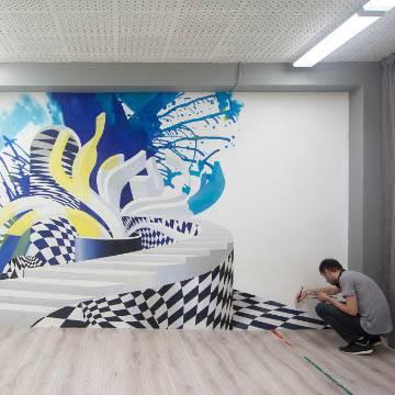 Граффити на стене в квартире | СПб