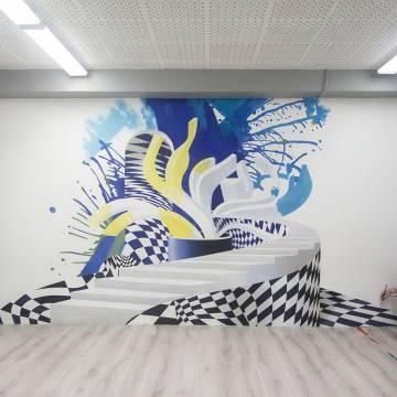 Граффити на стенах школы • СПб