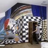 Роспись стены домашнего кинозала