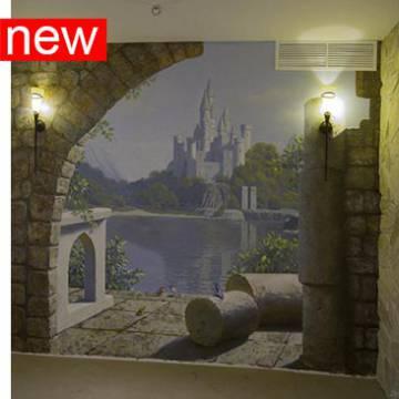 Роспись стен пейзаж и замок
