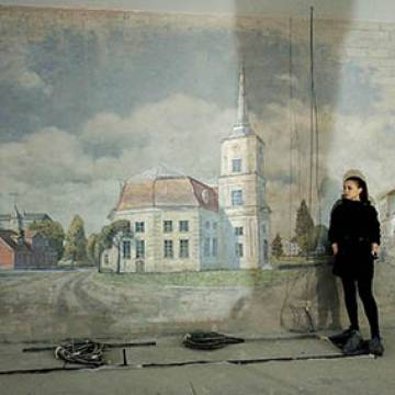 Роспись стен бассейна в Москве