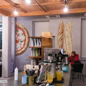 Еда на стене кафе-ресторана-магазина Гоголь-Моголь
