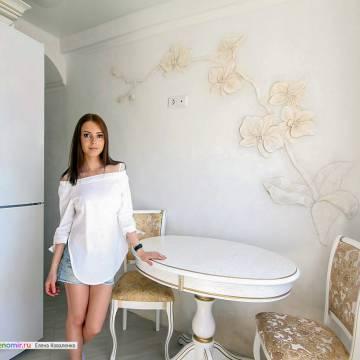 Лепной декор из гипса на кухне • орхидея
