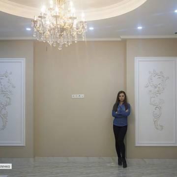 Гипсовый барельеф с орнаментом в интерьере | СПб