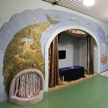 Рисунки на стенах в детских комнатах
